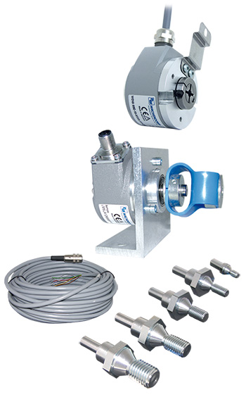Mounting kit with shaft or hollow shaft encoder